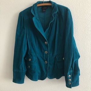 Lane Bryant Corduroy Blazer Jacket Plus Size 18
